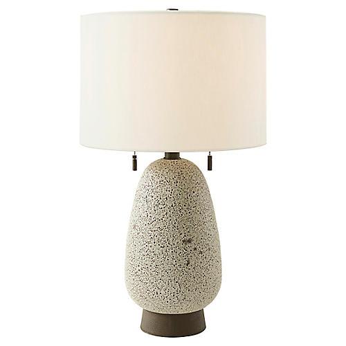Tahoe Table Lamp, Lava Glazed
