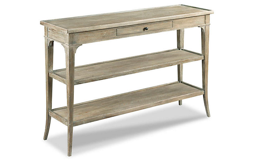 Eleni Console, Antiqued Oak