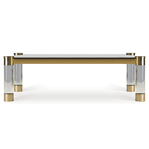Karl Coffee Table, Clear/Gold