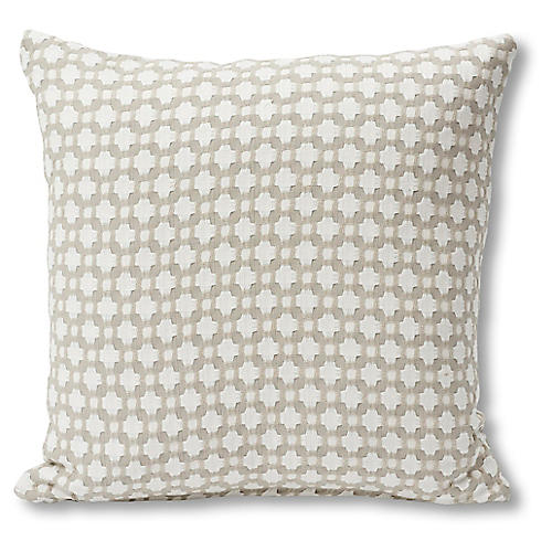 Betwixt 18x18 Pillow, Stone/White