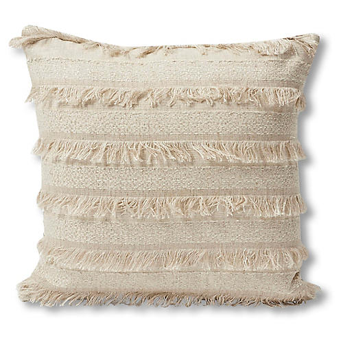 Acadia 18x18 Pillow, Greige