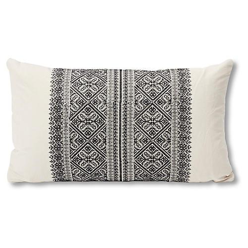 Toledo 15x26 Lumbar Pillow, Noir