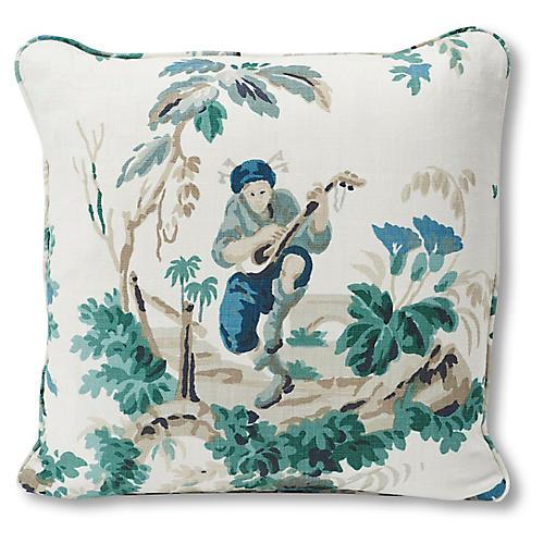Plaisirs 18x18 Pillow, Ivory Linen