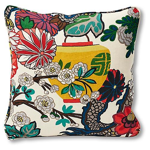 Dragon 18x18 Pillow, Alabaster Linen