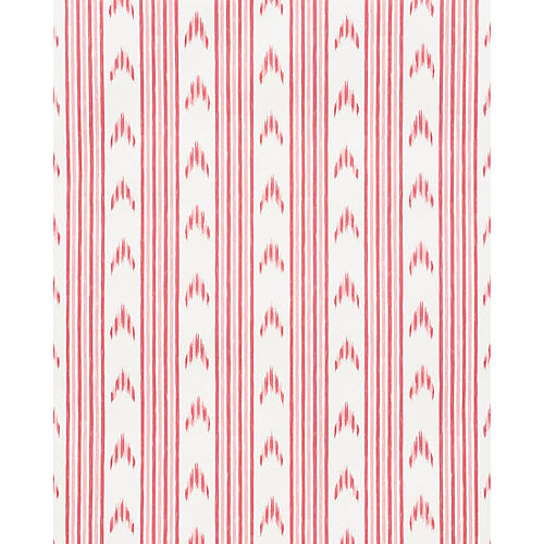 Santa Barbara Ikat Wallpaper, Pink