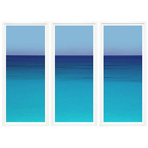 Tropical Seascape II Triptych