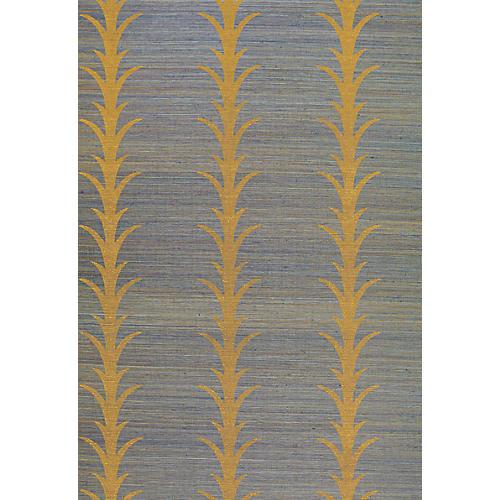 Acanthus Stripe Wallpaper, Turmeric