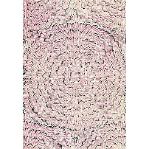 Feather Bloom Wallpaper, Fuchsia/Jet