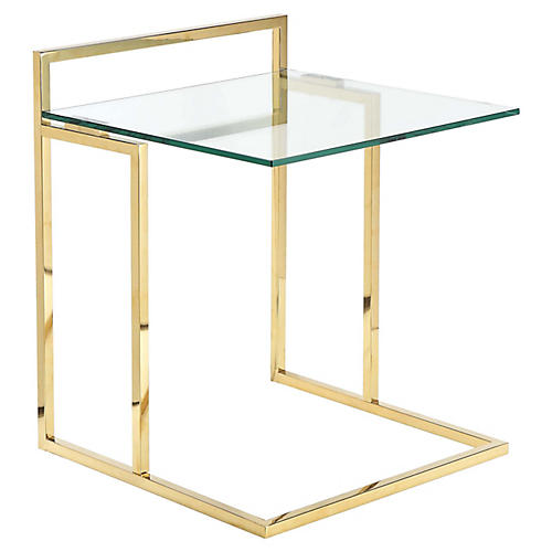 Helen Tray Table, Gold