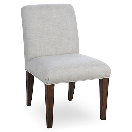 Aaron Side Chair, Gray Linen