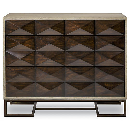 Casey 3-Drawer Dresser, Walnut