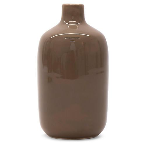 """7"""" Guana Vase, Taupe"""