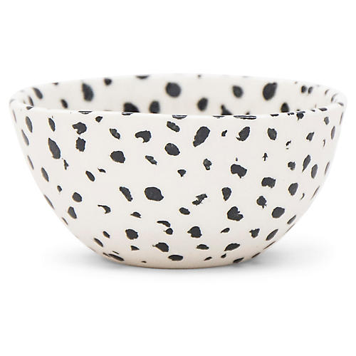 Finca Speckled Bowl, White/Black
