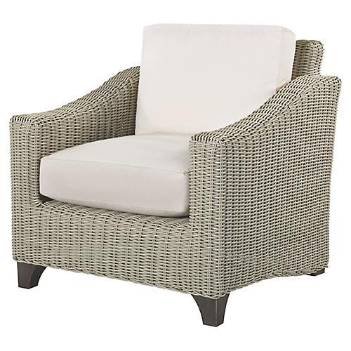 Requisite Lounge Chair, Bone/Natural Sunbrella