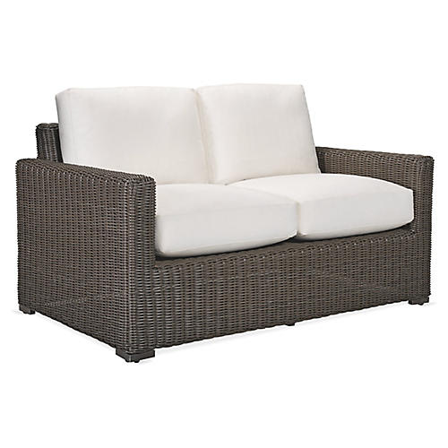 Fillmore Loveseat, Natural Sunbrella