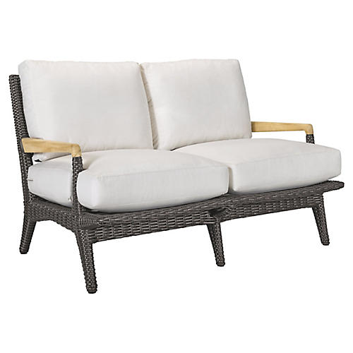 Cooper Loveseat, Natural Sunbrella