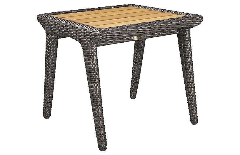 Cooper Side Table, Natural/Brown