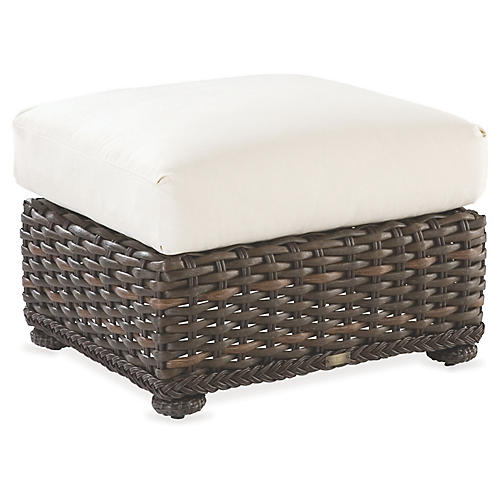 South Hampton Ottoman, Natural Sunbrella
