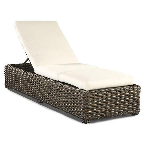 South Hampton Chaise, Natural Sunbrella
