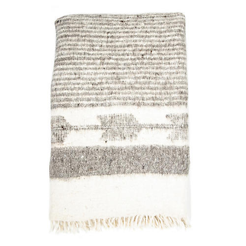 Chamarra Wool Throw, Gray