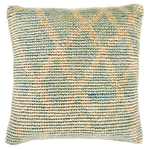 Randall 22x22 Pillow, Mint/Natural