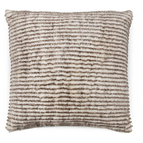 Winnie 22x22 Pillow, Beige/Brown