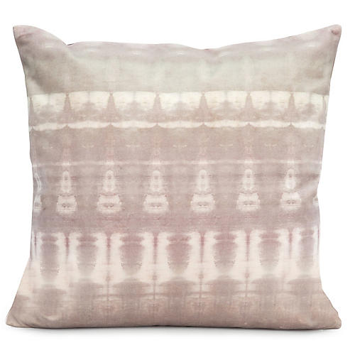 Passage No. 1 20x20 Pillow, Gray/Violet Velvet