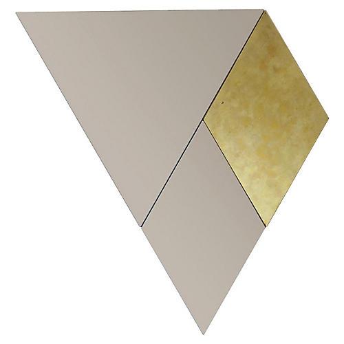 Callie Accent Mirror Set, Gold