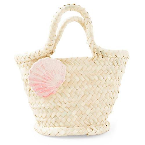 Calico Bag, Natural/Pink