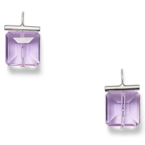 Swarovski Crystal Earrings, Amethyst
