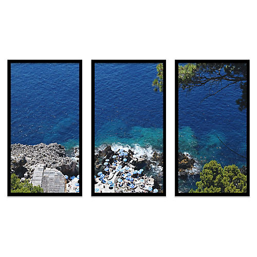 Natalie Obradovich, Fontelina Cliffside Triptych 1