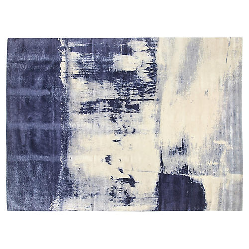 Coastal's End Hand-Knotted Rug, Blue/White