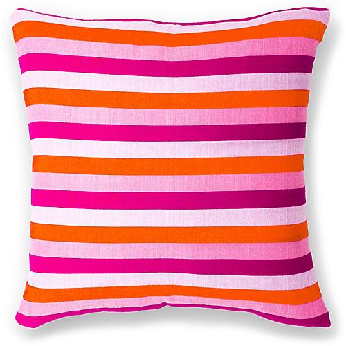 Dassanech 18x18 Pillow, Fuchsia