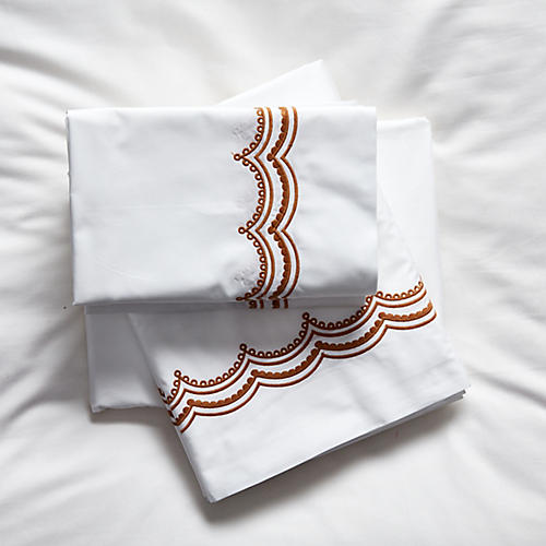 Evelyn Sheet Set, Caramel