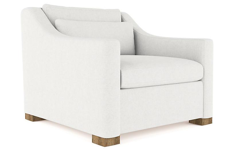 Crosby Accent Chair, Blanc