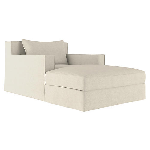 Mulberry Chaise, Oyster