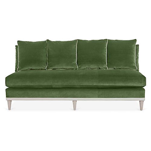 Pacific Heights Sofa, Green Velvet