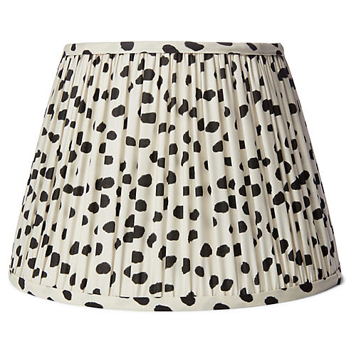 Spots Lampshade, Ivory/Black