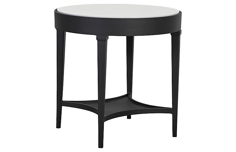 Winterthur Estate Round Side Table, Black