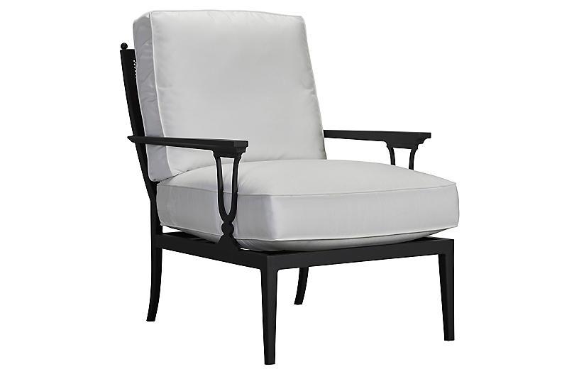Winterthur Estate Mesh Lounge Chair, White