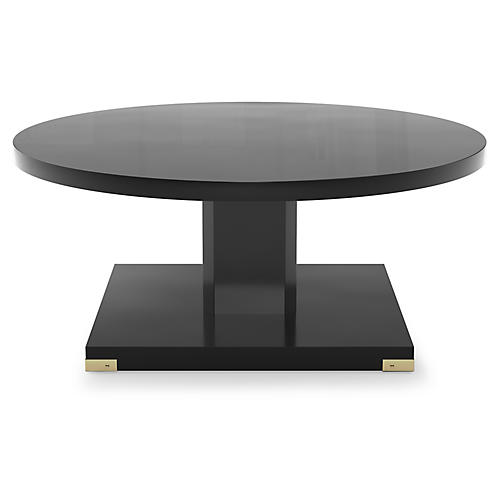 Paxton Coffee Table, Black Lacquer