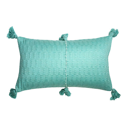 Antigua 12x20 Lumbar Pillow, Aqua