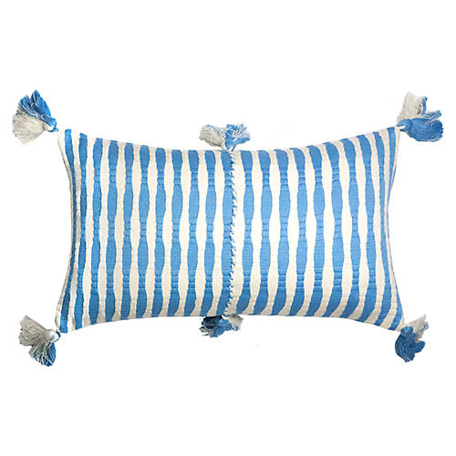 Antigua 12x20 Lumbar Pillow, Sky Stripe