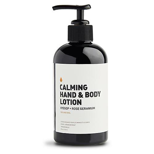 Calming Hand & Body Lotion, Hyssop & Rose Geranium