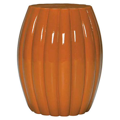 Chrysanthemum Stool, Orange