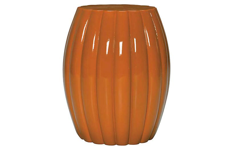 Chrysanthemum Stool, Orange