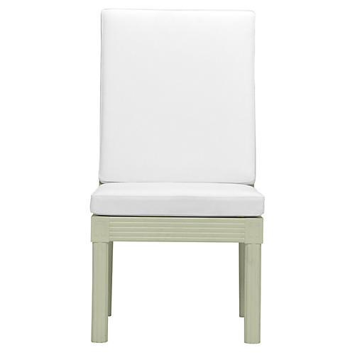 Quadratl Side Chair, Green/White
