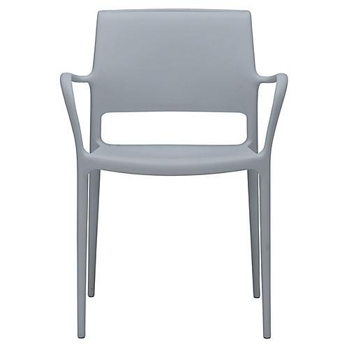 Lure Armchair, Light Gray