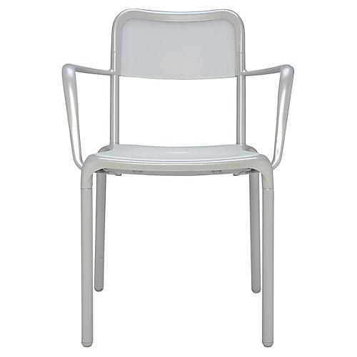 Asti Armchair, Clear/Silver