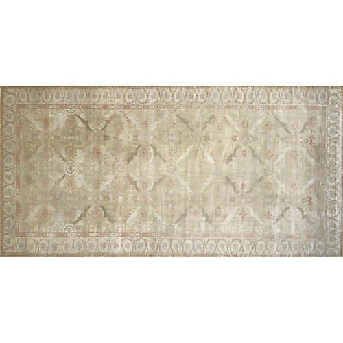 "9'6""x19'4"" Egyptian Sultanabad Rug, Ivory/Olive"